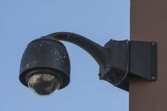 顶上的监视CCTV安全监控相机 库存图片