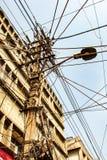 顶上的缆绳创造一个鼠迷宫 库存图片