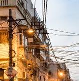 顶上的缆绳创造一个鼠迷宫 库存照片