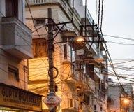 顶上的缆绳创造一个鼠迷宫 免版税图库摄影