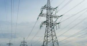 顶上的输电线导线 股票录像