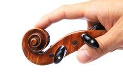 顶头小提琴 免版税图库摄影