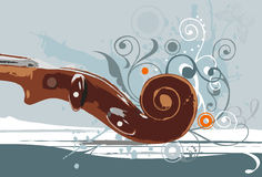 顶头小提琴 免版税库存图片