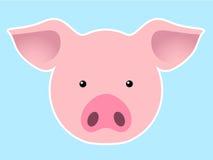 顶头猪 库存照片