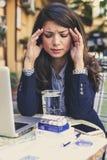 顶头痛苦那么经常是在企业生命力中 免版税库存照片