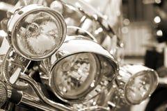 顶头闪亮指示摩托车 免版税库存照片