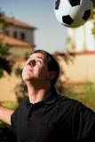 顶头soccerball 库存照片