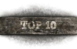 10顶层 库存图片
