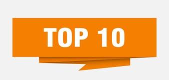 10顶层 库存例证