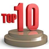 10顶层 免版税库存图片