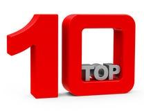 10顶层 图库摄影