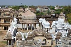 顶房顶上面,曼达瓦,拉贾斯坦,印度 免版税库存图片