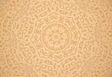 顶房顶在扎耶德Mosque,阿拉伯联合酋长国回教族长的装饰 免版税库存图片