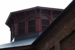 顶房顶线,磨房,伯利恒钢铁外部  库存照片
