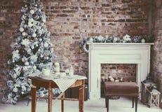 顶楼圣诞节室 库存图片