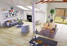 顶楼地板设计 免版税库存照片
