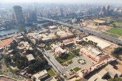 从顶的埃及的开罗 图库摄影