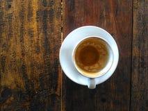 顶视图咖啡杯 图库摄影