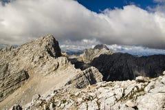顶视图在石灰石阿尔卑斯 免版税库存照片