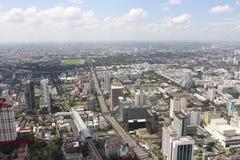 顶视图城市,曼谷,泰国 免版税库存图片