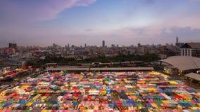 顶视图多个颜色夜市场 免版税库存图片