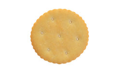顶视图小圆的薄脆饼干 库存图片