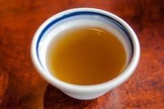 顶视图日本热的茶 免版税库存照片
