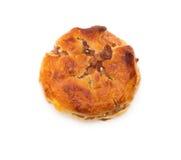 顶视图甜微型耐嚼的蛋糕或chickee在白色结块 免版税图库摄影