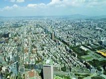 从顶视图的台北市 库存图片