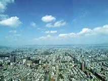 从顶视图的台北市 库存照片
