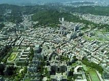 从顶视图的台北市 免版税库存图片