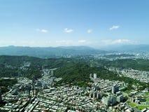 从顶视图的台北市 图库摄影