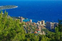 从顶视图的摩纳哥风景 库存照片