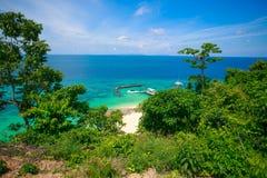 从顶视图的MaiTon海岛 图库摄影