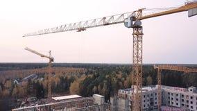 顶视图看见钢筋混凝土高层建筑物建造场所  夹子 楼房建筑的顶视图 股票视频