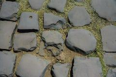 顶视图石头地面被仿造的纹理背景 免版税库存图片
