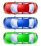 从顶视图设置的汽车 免版税图库摄影