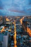 顶视图都市风景fo曼谷 图库摄影