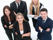 顶视图 业务组人专业人员 免版税库存照片