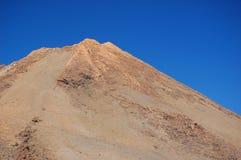 顶部火山 免版税库存照片