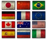 顶面国家旗子  库存图片