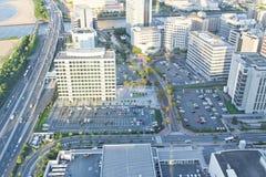 顶面城市视图在福冈 免版税库存图片