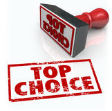 顶面挑选最佳的产品邮票回顾反馈规定值 库存图片