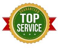 顶面服务保证的徽章 免版税库存图片