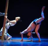 顶面母牛差事到迷宫现代舞蹈舞蹈动作设计者玛莎・葛兰姆里 免版税图库摄影