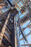 顶面驱动系统(TDS)和凿岩机的钻杆 图库摄影