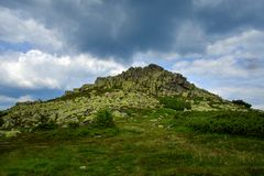 顶面Violik峰顶- Krkonose 库存照片