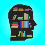 顶头图书馆-平的概念传染媒介例证 库存照片
