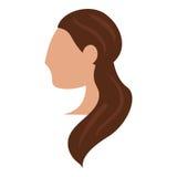 顶头妇女新娘发型 皇族释放例证