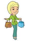 顶头围巾的年轻回教妇女 免版税库存图片
